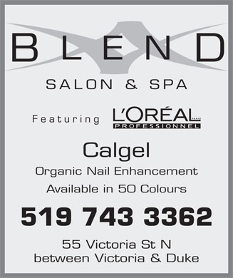 Blend Salon &amp; Spa (519-743-3362) - Annonce illustr&eacute;e