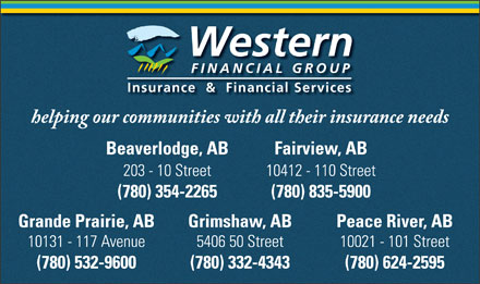 Western Financial Group (780-532-9600) - Annonce illustrée