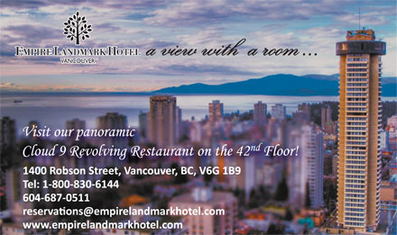 Empire Landmark Hotel & Conference Centre (604-687-0511) - Annonce illustrée