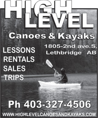 High Level Canoes and Kayaks (403-327-4506) - Annonce illustr&eacute;e