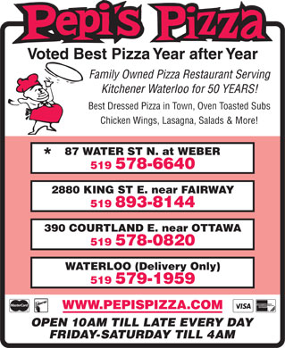 Pepi's Pizza (519-578-6640) - Display Ad