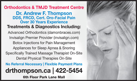 Thompson Andrew Dr Orthodontist (902-422-5454) - Display Ad