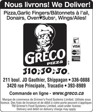 Greco Donair (506-393-8989) - Annonce illustr&eacute;e