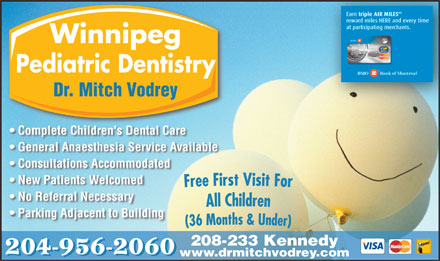 Winnipeg Pediatric Dentists (204-956-2060) - Annonce illustr&eacute;e