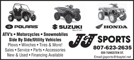 J & J Sports (807-623-2635) - Display Ad