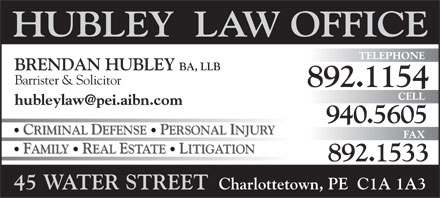 Hubley Law Office (902-892-1154) - Annonce illustrée