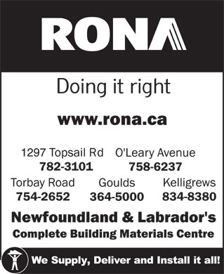 RONA (1-855-215-8748) - Display Ad
