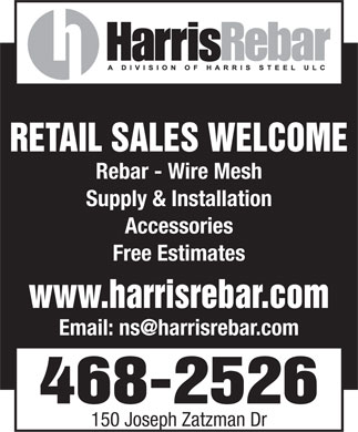 Harris Rebar (902-468-2526) - Display Ad