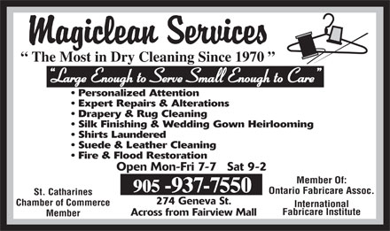 Magiclean Services Inc (905-937-7550) - Display Ad