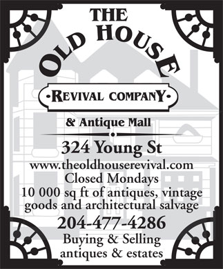 The Old House Revival Company (204-477-4286) - Annonce illustrée
