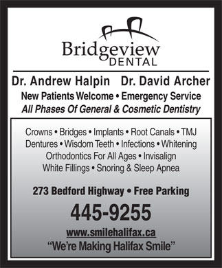 Bridgeview Dental (902-704-2941) - Display Ad