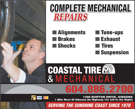 Coastal Tires & Mechanical (604-886-1892) - Annonce illustrée