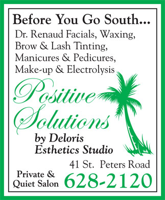 Positive Solutions By Deloris Esthetics Studio (902-628-2120) - Annonce illustrée