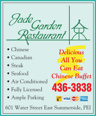 Jade Garden Restaurant (902-436-3838) - Display Ad