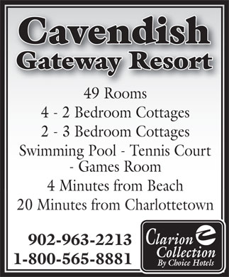 Cavendish Gateway Resort (902-963-2213) - Annonce illustrée