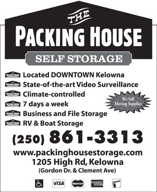 The Packing House Self Storage (250-980-9128) - Display Ad