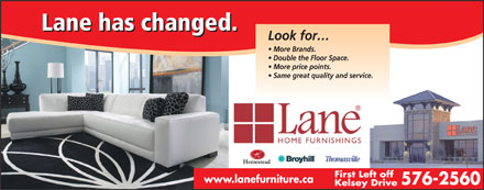 Lane Home Furnishings (709-576-2560) - Display Ad