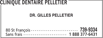 Clinique Dentaire Pelletier (1-888-506-1324) - Display Ad