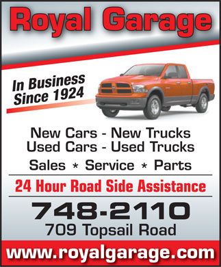 Dodge City-Royal Garage (709-748-2110) - Annonce illustrée