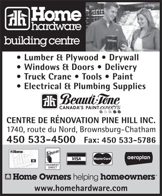 Home Hardware (450-533-4500) - Display Ad