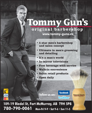 Tommy Gun's Original Barber Shop (780-792-0985) - Display Ad