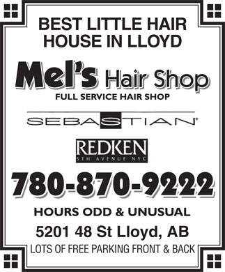 Mel's Hair Shop Ltd (780-870-9222) - Annonce illustrée
