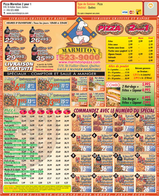 Marmiton Pizza 2 pour 1 (418-523-9000) - Display Ad