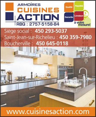 armoires cuisines action 1550 rue nobel boucherville qc