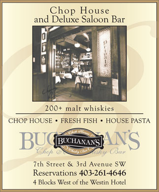 Buchanan's Chop House & Whiskey Bar (403-261-4646) - Display Ad