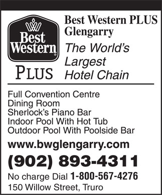 Best Western PLUS Glengarry (902-893-4311) - Display Ad