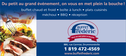 Buffet Fr&eacute;d&eacute;ric Enr (819-472-4569) - Annonce illustr&eacute;e