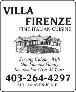 Villa Firenze (403-264-4297) - Display Ad