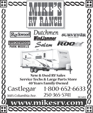 Mike's R V Ranch (250-365-5741) - Display Ad