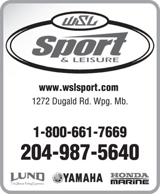 WSL Sport & Leisure (204-987-5640) - Display Ad - www.wslsport.com
