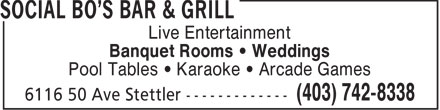 Whiskey Nights (403-742-8338) - Annonce illustrée - Live Entertainment Banquet Rooms • Weddings Pool Tables • Karaoke • Arcade Games