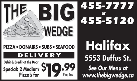 Big Wedge The (902-455-7777) - Display Ad