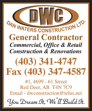 Dan Waters Construction (403-341-4747) - Annonce illustrée