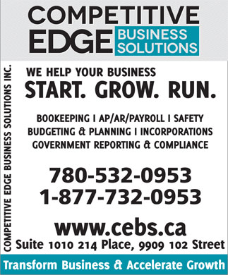 Competitive Edge Business Solutions Inc (780-532-0953) - Display Ad
