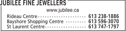 Jubilee Fine Jewellers (613-778-8854) - Display Ad - www.jubilee.ca