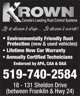 Krown Rust Control (519-740-2584) - Display Ad