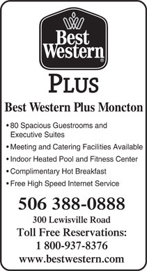 Best Western Moncton (506-388-0888) - Display Ad