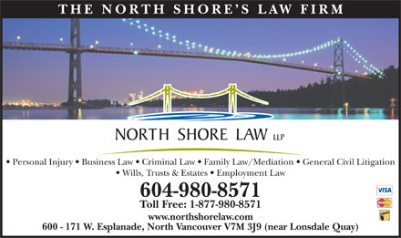 North Shore Law LLP (604-980-8571) - Annonce illustrée