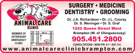 Animal Care Clinic (905-451-2800) - Annonce illustrée - Brampton (W. of Chinguacousy) www.animalcareclinicbrampton.com