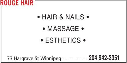 Looks Hair &amp; Body (204-942-3351) - Annonce illustr&eacute;e - &bull; HAIR &amp; NAILS &bull; &bull; MASSAGE &bull; &bull; ESTHETICS &bull;