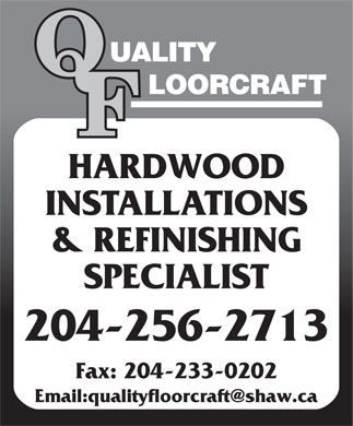 Quality Floorcraft (204-256-2713) - Display Ad