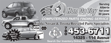 Hondatoy Automotive Ltd (780-453-6711) - Display Ad