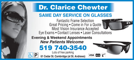 Chewter Clarice Dr (519-740-3540) - Display Ad