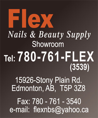 Flex Nails & Beauty Supplies (780-761-3539) - Display Ad