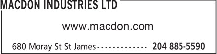 Macdon Industries Ltd (204-885-5590) - Annonce illustr&eacute;e - www.macdon.com  www.macdon.com