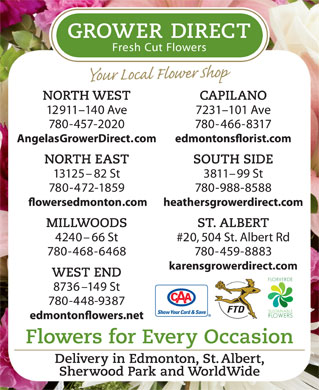 Grower Direct Fresh Cut Flowers (780-466-8317) - Display Ad